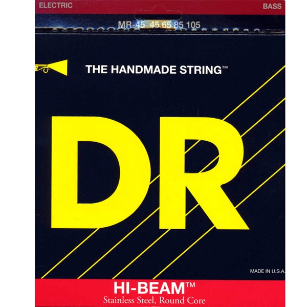 DR Hi Beam Stainless Steel Round Core Long Scale MR-45 (045-105) 4현베이스용