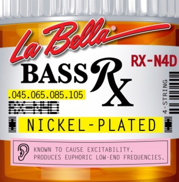 [La Bella] 베이스기타 스트링 - RX-N4D Bass RX Nickel-Plated, 45-65-85-105