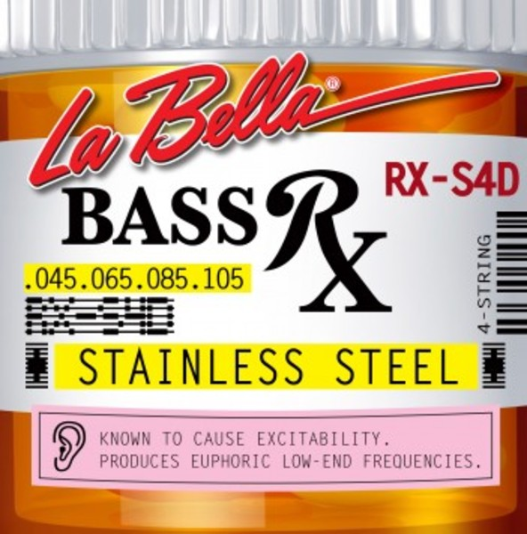 [La Bella] 베이스기타 스트링 - RX-S4D Bass RX Stainless Steel, 45-65-85-105 4현