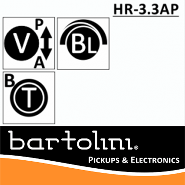 Bartolini  NTBT HR‐3.3AP/918 2 Band EQ, 3 Pots
