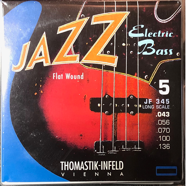 thomastik infeld jf345 nickel flat wound round core jazz bass strings 43-136 5현