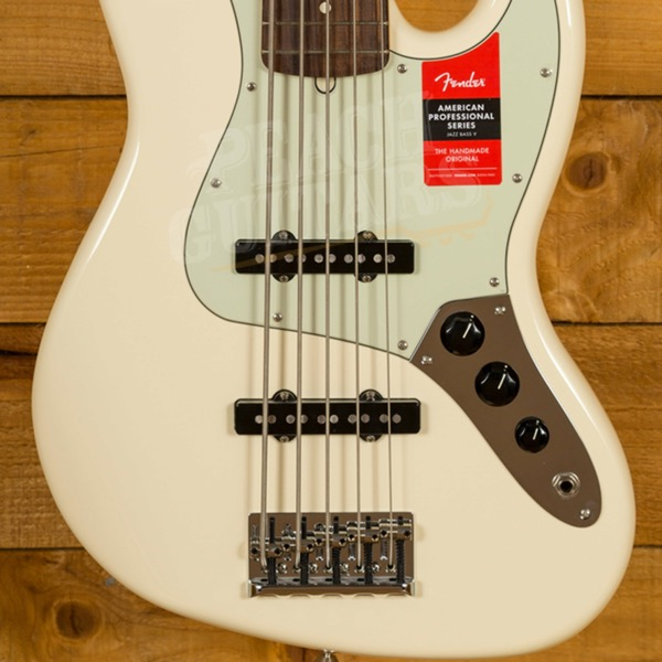FENDER AMERICAN PROFESSIONAL JAZZ BASS V 5현  OLYMPIC WHITE
