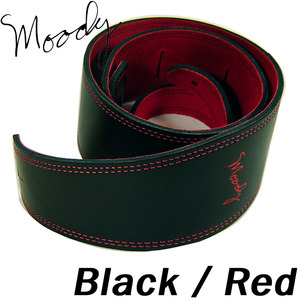 "[Moody] Leather / Leather - 4"" - Std (Black / Red)"