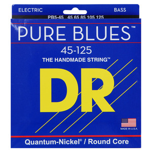 DR Quantum nickel/Round core PURE BLUES PB45-125 5현 베이스용