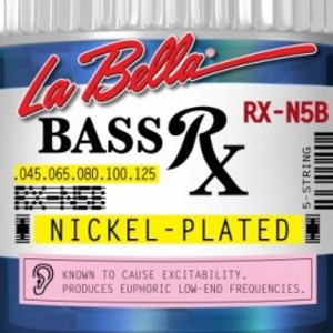 [La Bella] 베이스기타 스트링 5현 - RX-N5B Bass RX Nickel-Plated, 45-65-80-100-125