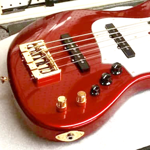 Mbasses MJ 60's red head matching 5 string bass