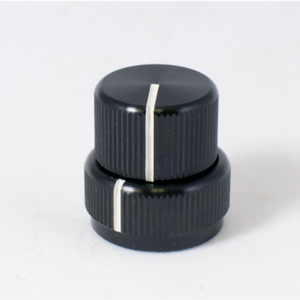 KILO Concentric Stacked Black Aluminum Knob