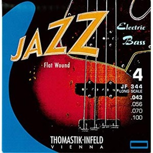 thomastik infeld jf344 nickel flat wound round core jazz bass strings 43-100